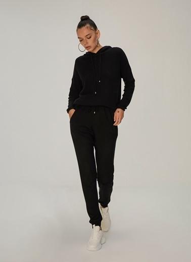 NGSTYLE Ribanalı Örme Pantolon Siyah